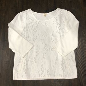 NWT Dylan Shredded Lace 3/4 Sleep Top